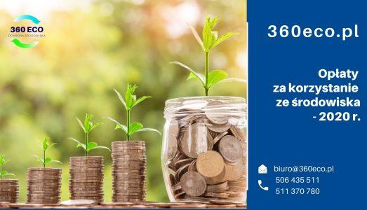 Opłaty za korzystanie ze środowiska za 2020 r.